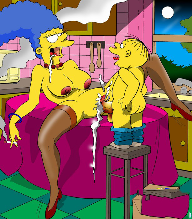 Familia Simpsons xxx Desnudos y Follando Hentai (6)