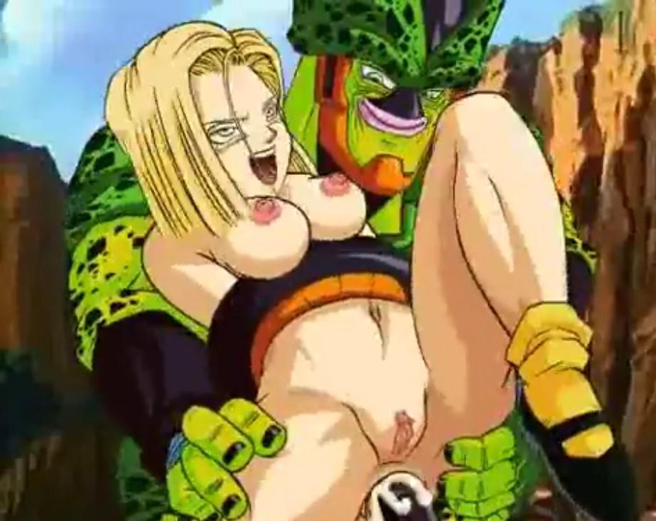 Dragon Ball Cell y Androide 18 Follando xxx