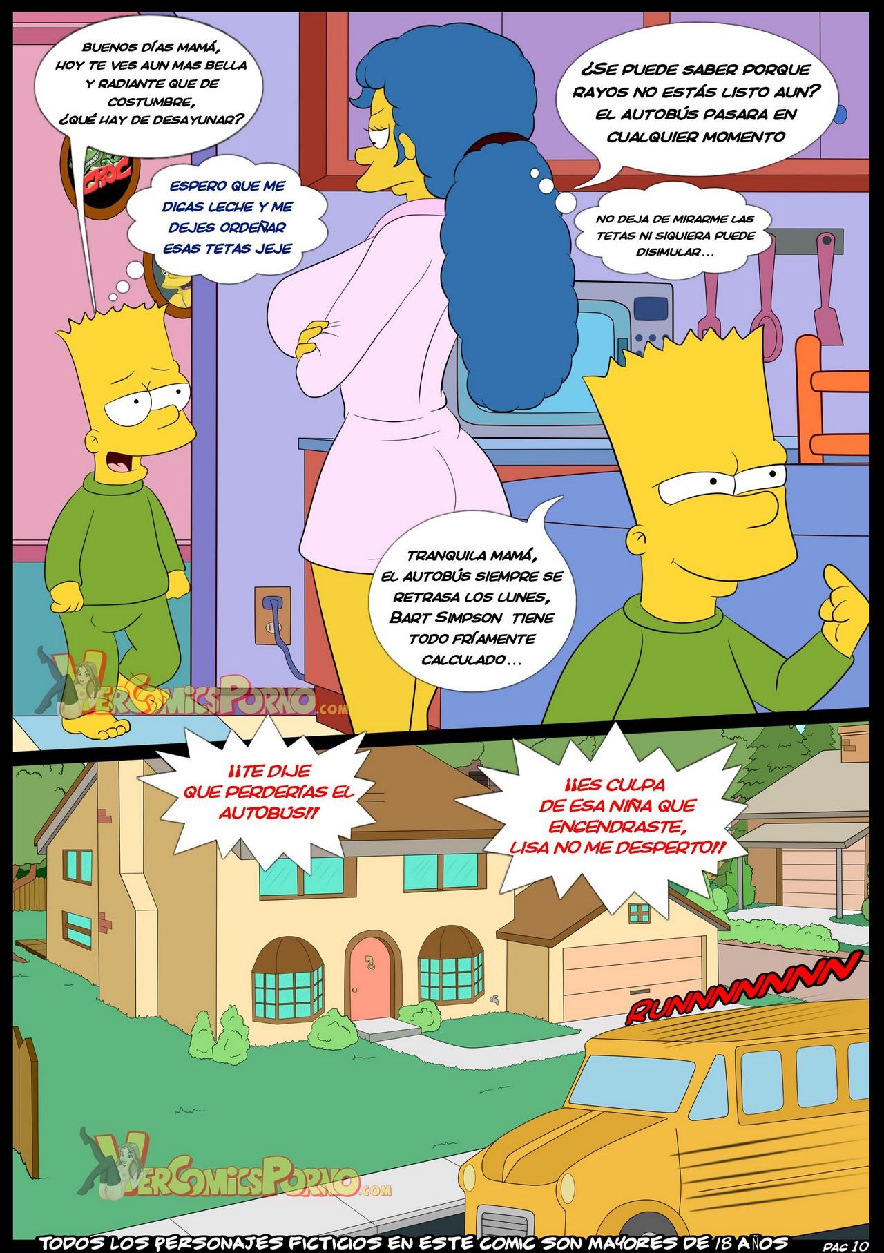 Marge en Bart Simpson Porn Comic