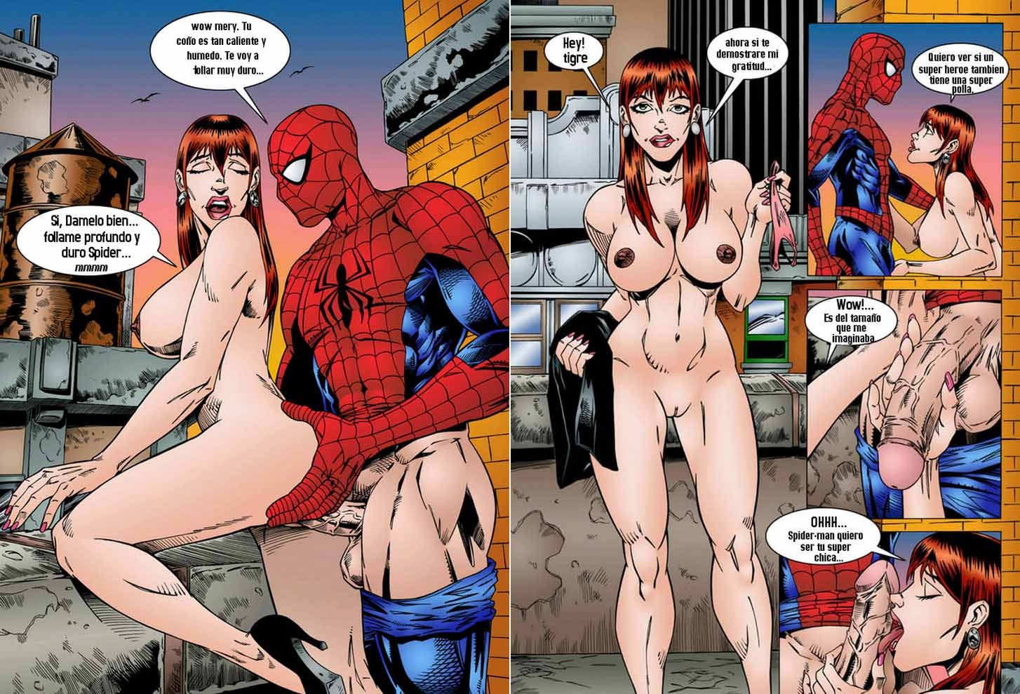 Ultimate Spiderman porno fumetti