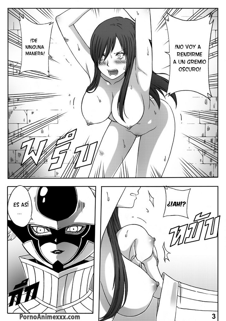 Fairy Tail Erza Scarlet Titania Follando Desnuda Porno Anime